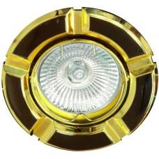 098Т-MR16 50W G5.3 черный-золото/ Gun Metal-Gold 17642