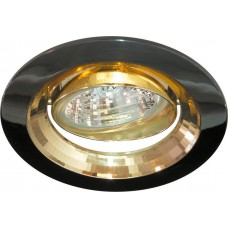 2009DL MR16 50W G5.3 черный металлик-золото/ Gun Metal-Gold 17828