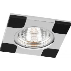 "DL191 MR16 50W G5.3 ""квадрат"" черный/хром 18756"