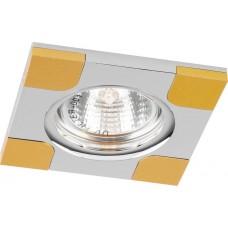"DL191 MR16 50W G5.3 ""квадрат"" золото/хром 18757"