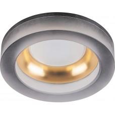 DL2541 MR16 13W G5.3 матовый черный,золото, круг 32636