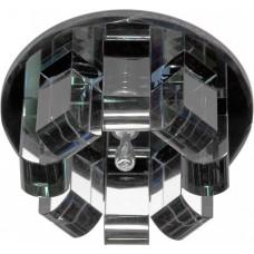 1655 JC 35W G5,3 черный, хром (с лампой) 19161